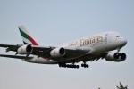 ドラパチさんが、成田国際空港で撮影したエミレーツ航空 A380-861の航空フォト(写真)