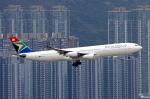 香港国際空港 - Hong Kong International Airport [HKG/VHHH]で撮影された南アフリカ航空 - South African Airways [SA/SAA]の航空機写真