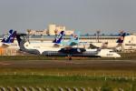 T.Sazenさんが、成田国際空港で撮影したオーロラ DHC-8-402Q Dash 8の航空フォト(写真)