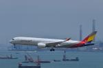 あにいさんが、香港国際空港で撮影したアシアナ航空 A350-941XWBの航空フォト(写真)