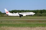 北の熊さんが、帯広空港で撮影した日本航空 737-846の航空フォト(飛行機 写真・画像)