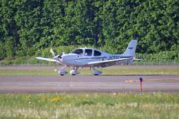 北の熊さんが、帯広空港で撮影した航空大学校 SR22の航空フォト(写真)