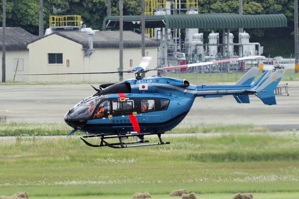 yabyanさんの愛知県警察 Kawasaki BK117 (JA11AP) 航空フォト