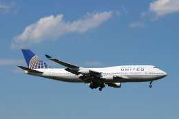ハム太郎。さんが、成田国際空港で撮影したユナイテッド航空 747-422の航空フォト(飛行機 写真・画像)