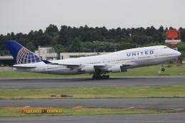 キイロイトリさんが、成田国際空港で撮影したユナイテッド航空 747-451の航空フォト(飛行機 写真・画像)
