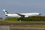 みなかもさんが、成田国際空港で撮影したキャセイパシフィック航空 A330-343Xの航空フォト(写真)