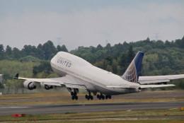 GRX135さんが、成田国際空港で撮影したユナイテッド航空 747-422の航空フォト(飛行機 写真・画像)
