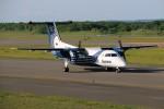北の熊さんが、新千歳空港で撮影したオーロラ DHC-8-200Q Dash 8の航空フォト(写真)