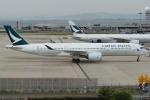 Wings Flapさんが、関西国際空港で撮影したキャセイパシフィック航空 A350-941XWBの航空フォト(写真)