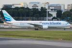 Tomo-Papaさんが、シンガポール・チャンギ国際空港で撮影したユーロアトランティック・エアウェイズ 767-36N/ERの航空フォト(写真)
