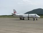 職業旅人さんが、利尻空港で撮影した北海道エアシステム 340B/Plusの航空フォト(写真)