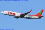 Chofu Spotter Ariaさんが、成田国際空港で撮影したティーウェイ航空 737-8HXの航空フォト(飛行機 写真・画像)