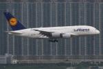 たみぃさんが、香港国際空港で撮影したルフトハンザドイツ航空 A380-841の航空フォト(写真)