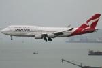 たみぃさんが、香港国際空港で撮影したカンタス航空 747-438の航空フォト(写真)