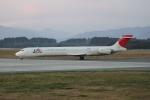 mojioさんが、静岡空港で撮影した日本航空 MD-90-30の航空フォト(飛行機 写真・画像)