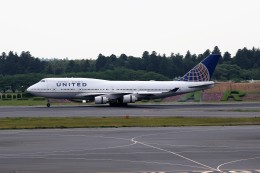 もぐ3さんが、成田国際空港で撮影したユナイテッド航空 747-422の航空フォト(飛行機 写真・画像)