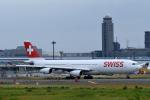 ho ho hoさんが、成田国際空港で撮影したスイスインターナショナルエアラインズ A340-313Xの航空フォト(写真)
