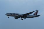 地主さんが、成田国際空港で撮影したカタール航空 777-2DZ/LRの航空フォト(写真)