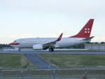 Gulf650Erさんが、成田国際空港で撮影したプライベートエア 737-7AK BBJの航空フォト(飛行機 写真・画像)