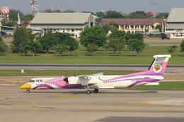 安芸あすかさんが、ドンムアン空港で撮影したノックエア DHC-8-402Q Dash 8の航空フォト(飛行機 写真・画像)