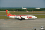 鱚楽鯛遊さんが、新千歳空港で撮影したティーウェイ航空 737-8HXの航空フォト(写真)