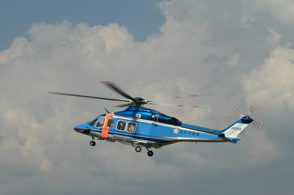 なぞたびさんの長野県警察 AgustaWestland AW139 (JA220E) 航空フォト