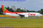 Chofu Spotter Ariaさんが、成田国際空港で撮影したティーウェイ航空 737-8KGの航空フォト(飛行機 写真・画像)
