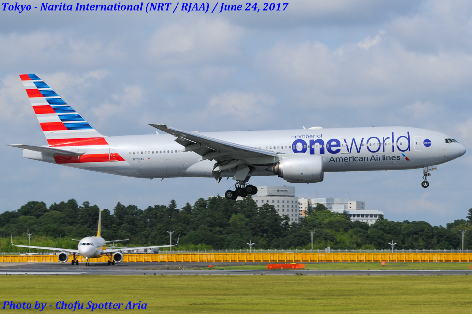 Chofu Spotter Ariaさんのアメリカン航空 Boeing 777-200 (N796AN) 航空フォト