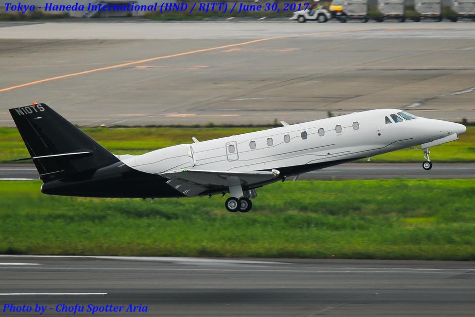Chofu Spotter AriaさんのAvista Investments LLC Cessna 680 Citation Sovereign (N10TS) 航空フォト