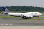 もぐ3さんが、成田国際空港で撮影したユナイテッド航空 747-422の航空フォト(写真)