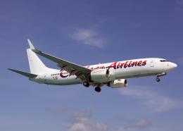 Bokuranさんが、プリンセス・ジュリアナ国際空港で撮影したカリビアン航空 737-85Pの航空フォト(飛行機 写真・画像)