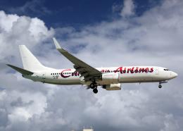 Bokuranさんが、プリンセス・ジュリアナ国際空港で撮影したカリビアン航空 737-8Q8の航空フォト(飛行機 写真・画像)