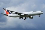 たっくさんが、成田国際空港で撮影したフィリピン航空 A340-313の航空フォト(写真)