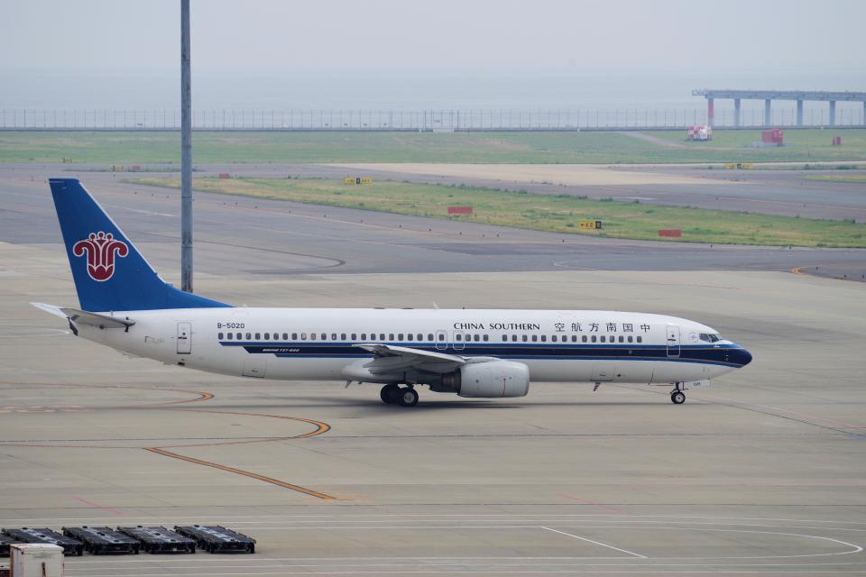 yabyanさんの中国南方航空 Boeing 737-800 (B-5020) 航空フォト