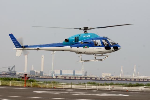あきらっすさんが、みなとみらいヘリポートで撮影した日本法人所有 AS355N Ecureuil 2の航空フォト(飛行機 写真・画像)