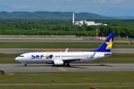 T.Sazenさんが、新千歳空港で撮影したスカイマーク 737-8FZの航空フォト(飛行機 写真・画像)