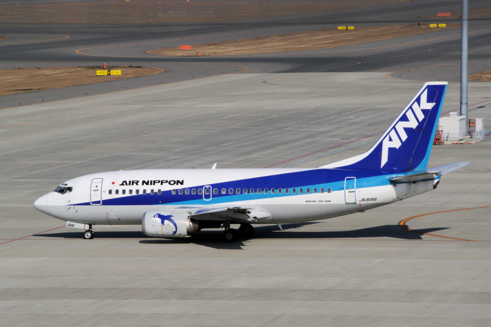 yabyanさんのエアーニッポン Boeing 737-500 (JA8196) 航空フォト