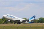 安芸あすかさんが、パリ オルリー空港で撮影したコルセール 747-422の航空フォト(写真)