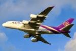 らいぬあーさんが、成田国際空港で撮影したタイ国際航空 A380-841の航空フォト(写真)
