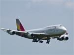 今ちゃんさんが、福岡空港で撮影したアシアナ航空 747-48Eの航空フォト(写真)