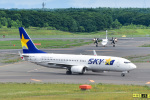 パンダさんが、新千歳空港で撮影したスカイマーク 737-8FHの航空フォト(飛行機 写真・画像)