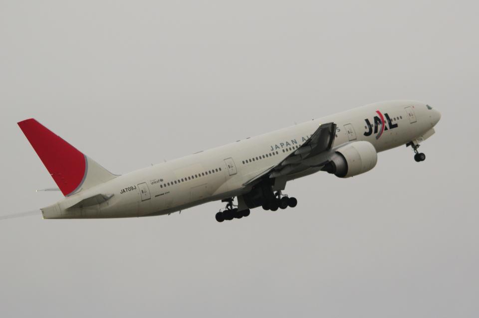 yabyanさんの日本航空 Boeing 777-200 (JA709J) 航空フォト