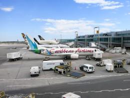 jombohさんが、ジョン・F・ケネディ国際空港で撮影したカリビアン航空 737-8Q8の航空フォト(飛行機 写真・画像)