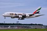 トロピカルさんが、成田国際空港で撮影したエミレーツ航空 A380-861の航空フォト(写真)