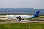T.Sazenさんが、関西国際空港で撮影したガルーダ・インドネシア航空 A330-343Eの航空フォト(写真)