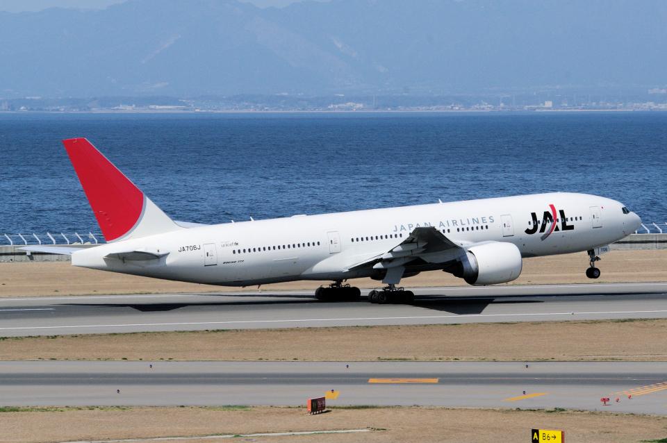 yabyanさんの日本航空 Boeing 777-200 (JA706J) 航空フォト