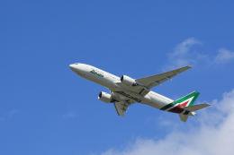 夏奈さんが、成田国際空港で撮影したアリタリア航空 777-2Q8/ERの航空フォト(写真)