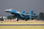 チャッピー・シミズさんが、フェアフォード空軍基地で撮影したウクライナ空軍 Su-27Pの航空フォト(写真)