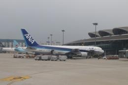 TAOTAOさんが、青島流亭国際空港で撮影した全日空 767-381/ERの航空フォト(飛行機 写真・画像)