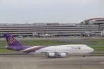 パピヨンさんが、羽田空港で撮影したタイ国際航空 747-4D7の航空フォト(写真)